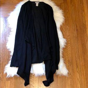 Mudd Black Drape Open Cardigan Sweater